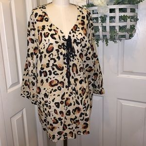 NWT Carole Little Leopard Tunic 2X